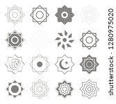 vector icons with islamic... | Shutterstock .eps vector #1280975020