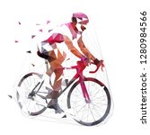 cycling  low polygonal road... | Shutterstock .eps vector #1280984566