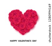 happy valentine's day banner...   Shutterstock .eps vector #1280994169