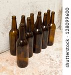 pile of empty beer bottle | Shutterstock . vector #128099600