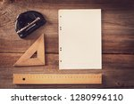 vintage stationery with puncher ... | Shutterstock . vector #1280996110