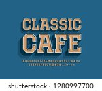 vector stylish emblem classic... | Shutterstock .eps vector #1280997700