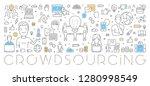 vector line web banner for... | Shutterstock .eps vector #1280998549
