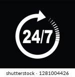 twenty four seven arrow icon | Shutterstock .eps vector #1281004426