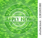 apply now green mosaic emblem   Shutterstock .eps vector #1281005380