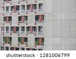 facade of george loveless house ...   Shutterstock . vector #1281006799