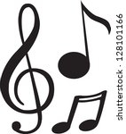 black music note | Shutterstock .eps vector #128101166