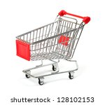 shopping cart with shadow... | Shutterstock . vector #128102153
