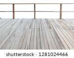 Balcony With Wooden Floor And...