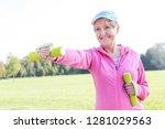 dedicated senior woman...   Shutterstock . vector #1281029563