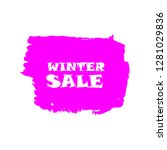 winter sale sign over art pink... | Shutterstock .eps vector #1281029836