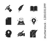 copywriting black icons on... | Shutterstock . vector #1281031399