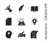 copywriting black icons on... | Shutterstock . vector #1281031399
