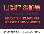 light show letters and numbers... | Shutterstock .eps vector #1281037849