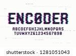 technology san serif uppercase... | Shutterstock .eps vector #1281051043