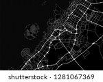 dark area map of dubai  united... | Shutterstock .eps vector #1281067369