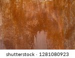 grunge rusted metal texture.... | Shutterstock . vector #1281080923