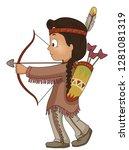 illustration of a native... | Shutterstock .eps vector #1281081319
