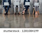 cropped view of businesspeople... | Shutterstock . vector #1281084199