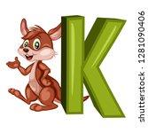 animal alphabet. k is for... | Shutterstock .eps vector #1281090406