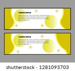 yellow banner with perfect... | Shutterstock .eps vector #1281093703