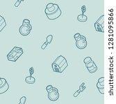 farm outline isometric pattern. ... | Shutterstock . vector #1281095866
