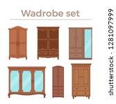 furniture cartoon vector... | Shutterstock .eps vector #1281097999