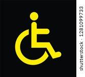 disable handicap icon vector....   Shutterstock .eps vector #1281099733