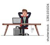 business man chillin in... | Shutterstock . vector #1281101026