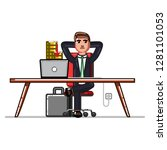 business man checking that his... | Shutterstock . vector #1281101053