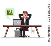 business man checking that his... | Shutterstock . vector #1281101056