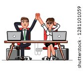 business man and woman chillin... | Shutterstock . vector #1281101059
