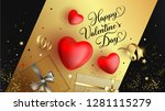 happy valentine's day festive... | Shutterstock .eps vector #1281115279