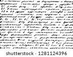 vintage handwritten letter... | Shutterstock .eps vector #1281124396