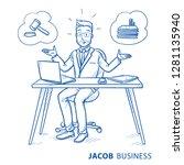 uncertain business man ...   Shutterstock .eps vector #1281135940