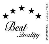 best quality sign symbol with... | Shutterstock .eps vector #1281137416