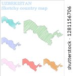 uzbekistan sketchy country.... | Shutterstock .eps vector #1281156706