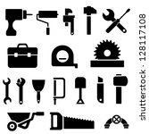tool and hardware icon set in... | Shutterstock .eps vector #128117108