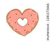 cute cartoon vector heart... | Shutterstock .eps vector #1281172666