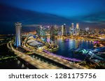 aerial view of blue hour sunset ... | Shutterstock . vector #1281175756