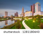 columbus  ohio  usa skyline on... | Shutterstock . vector #1281180643