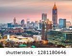 atlanta  georgia  usa downtown... | Shutterstock . vector #1281180646