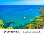 ragged coast of akamas... | Shutterstock . vector #1281188116