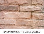 stone background  sand wall...   Shutterstock . vector #1281190369