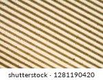 kraft paper texture cardboard...   Shutterstock . vector #1281190420