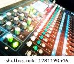 blurry of power mixer... | Shutterstock . vector #1281190546