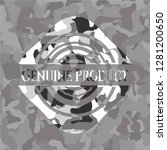 genuine product on grey... | Shutterstock .eps vector #1281200650