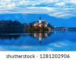beautiful landscape of bled... | Shutterstock . vector #1281202906