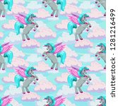 beautiful fairy seamless... | Shutterstock .eps vector #1281216499