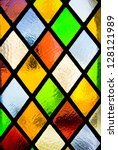 stained glass window of colored ... | Shutterstock . vector #128121989